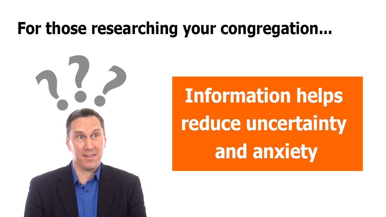 Information reduces uncertainty and anxiety